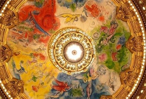 Chagall plafond de l'Opéra Garnier